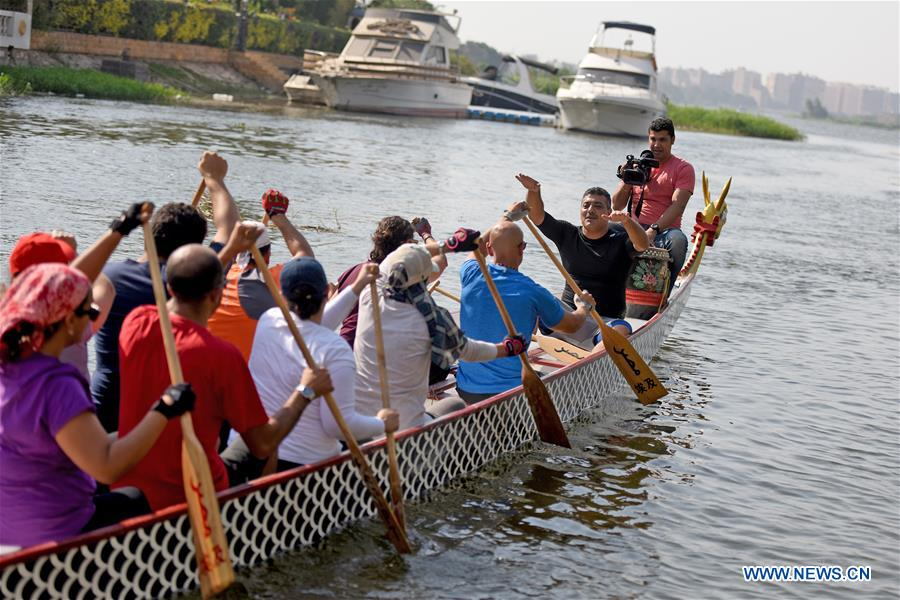 Nile River in Egypt braces for Chinese dragon boat racing